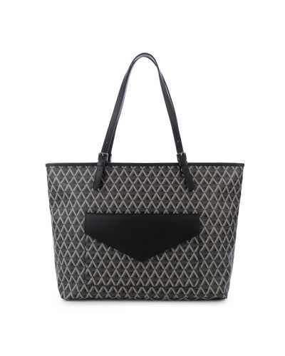 Large tote bag with front pocket Black