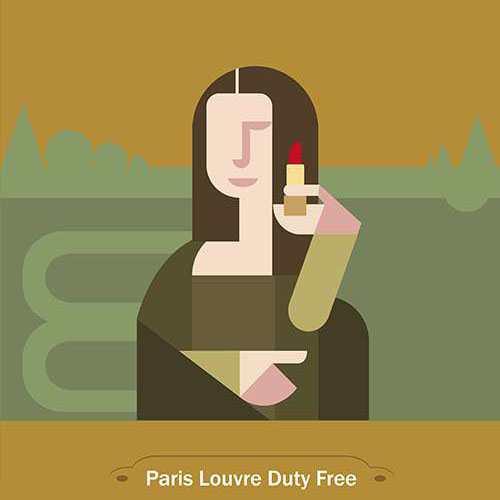 paris louvre duty-free kams 1960
