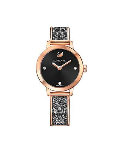 Swarovski-Cosmic-Rock-Watch-Metal-bracelet-Black-Rose-gold-tone-5376068-W600