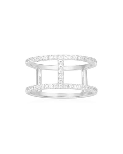纯银镶晶钻戒指