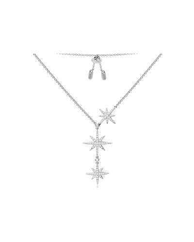 纯银镶晶钻流星项链