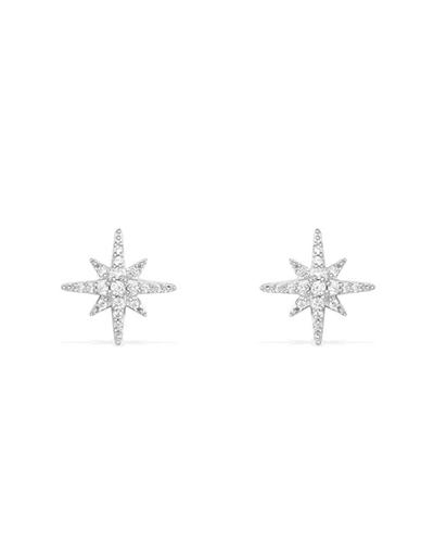 纯银镶晶钻耳钉