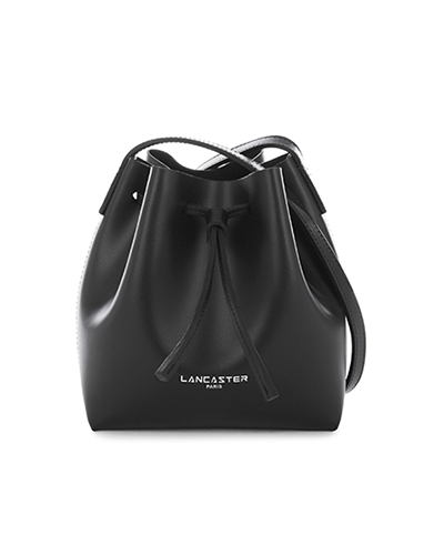 Lancaster mini bucket bag black