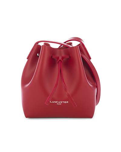 Lancaster mini bucket bag red
