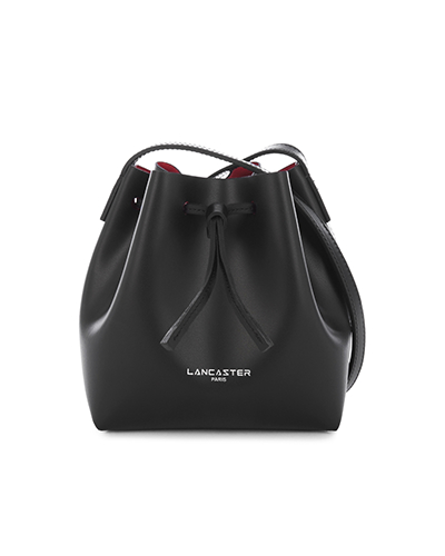 Lancastert mini bucket bag black and Red