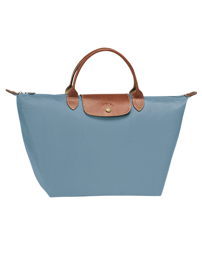 Longchamp珑骧Le Pliage系列短柄北极蓝色手包
