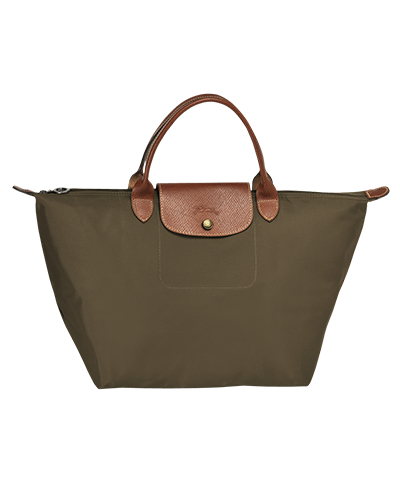 Longchamp珑骧Le Pliage系列短柄卡其色手包