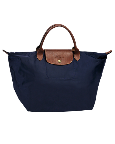 Longchamp珑骧Le Pliage系列短柄海军蓝手包