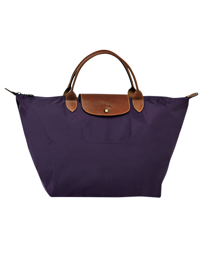 Longchamp珑骧Le Pliage系列短柄覆盆子色手包