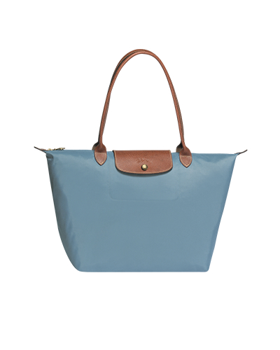 Longchamp珑骧Le Pliage系列长柄北极蓝色购物包