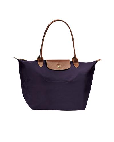 Longchamp珑骧Le Pliage系列长柄覆盘子色购物包