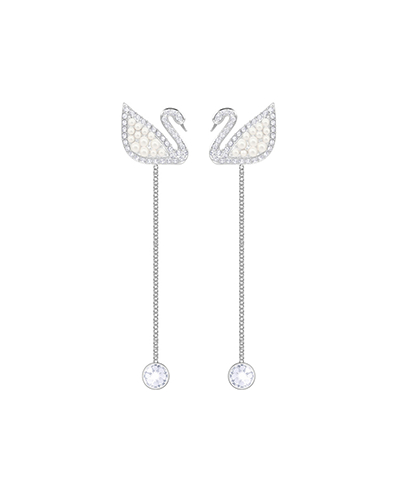 swarovski Iconic Swan Pierced Earrings2