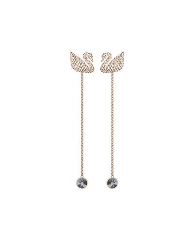 swarovski iconic swan pierced earrings