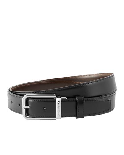 mont blanc black brown Business belt 118429