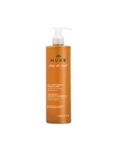 nuxe Gel lavant surgras visage et corps Rêve de miel