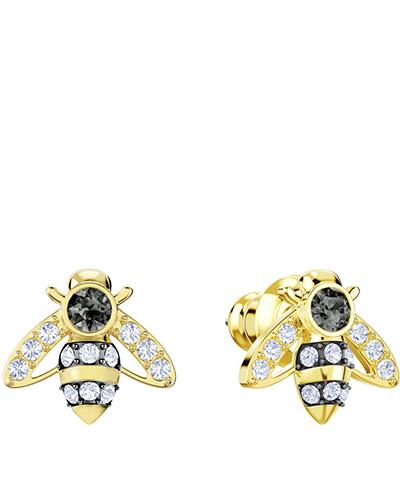 swarovski Magnetic Bee Stud Pierced Earrings
