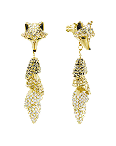 swarovski March Fox Pierced Earrings