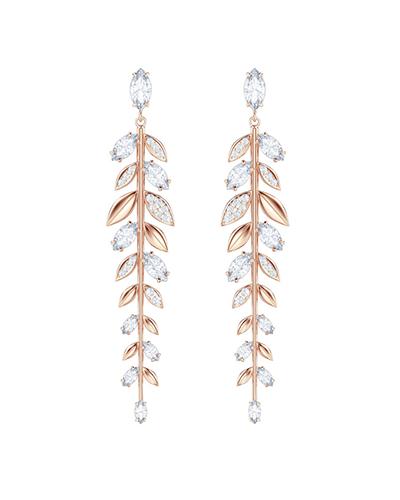 swarovski mayfly pierced earrings rose gold