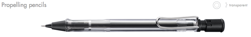 LAMY-Vista Propelling Pencils