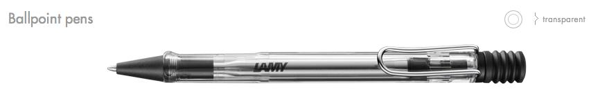 LAMY-Vista Ballpoint Pens