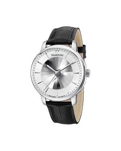 Swarovski-Atlantis-Limited-Edition-Automatic-Mens-Watch-Leather-strap-White-Silver-tone-5364206-W600