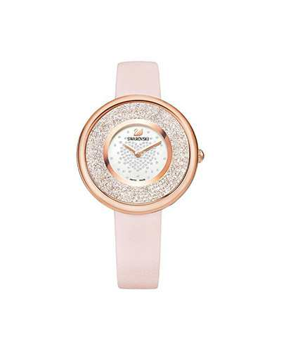 Swarovski-Crystalline-Pure-Watch-Leather-strap-Pink-Rose-gold-tone-5376086-W600