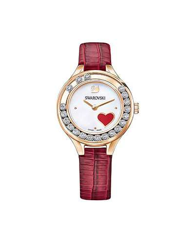 Swarovski-Lovely-Crystals-Mini-Watch-Leather-strap-Red-Rose-gold-tone-5297584-W600
