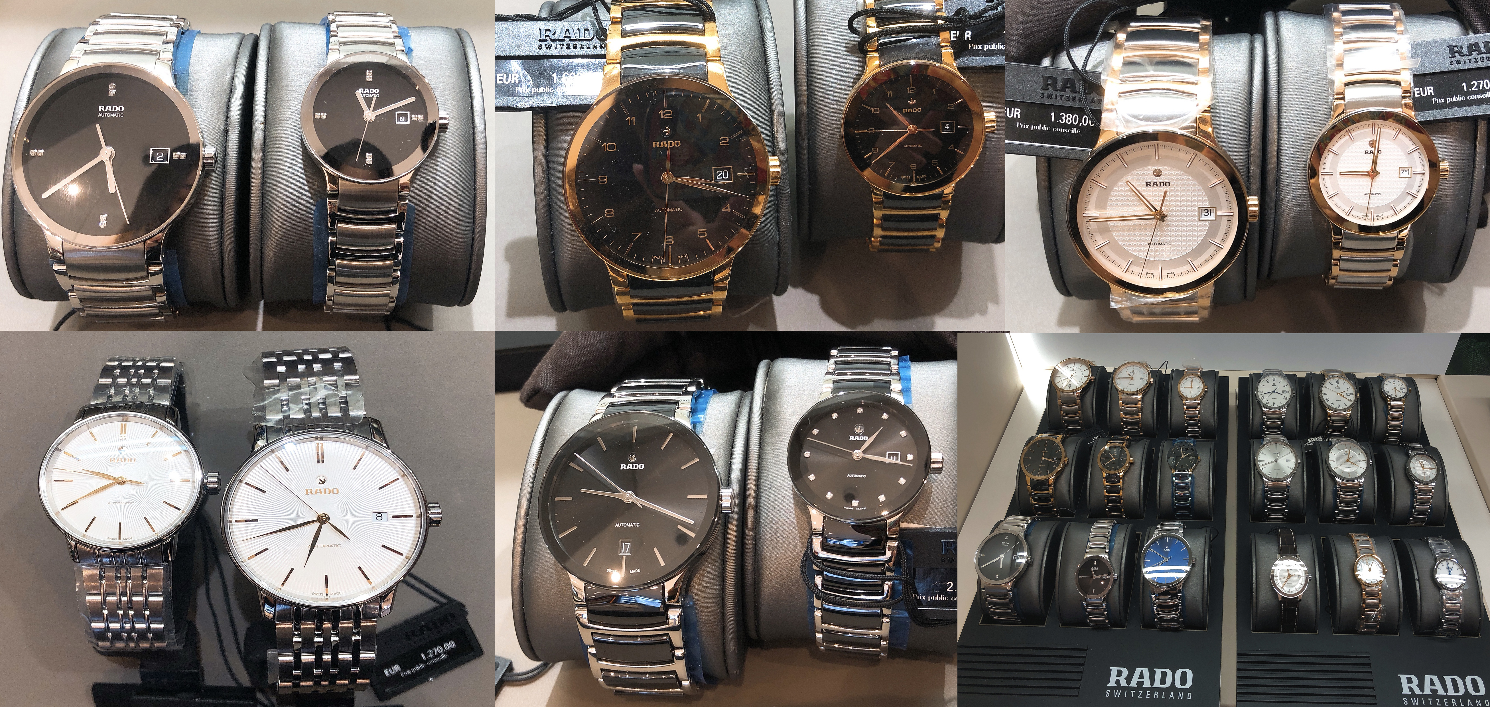 巴黎rado手表